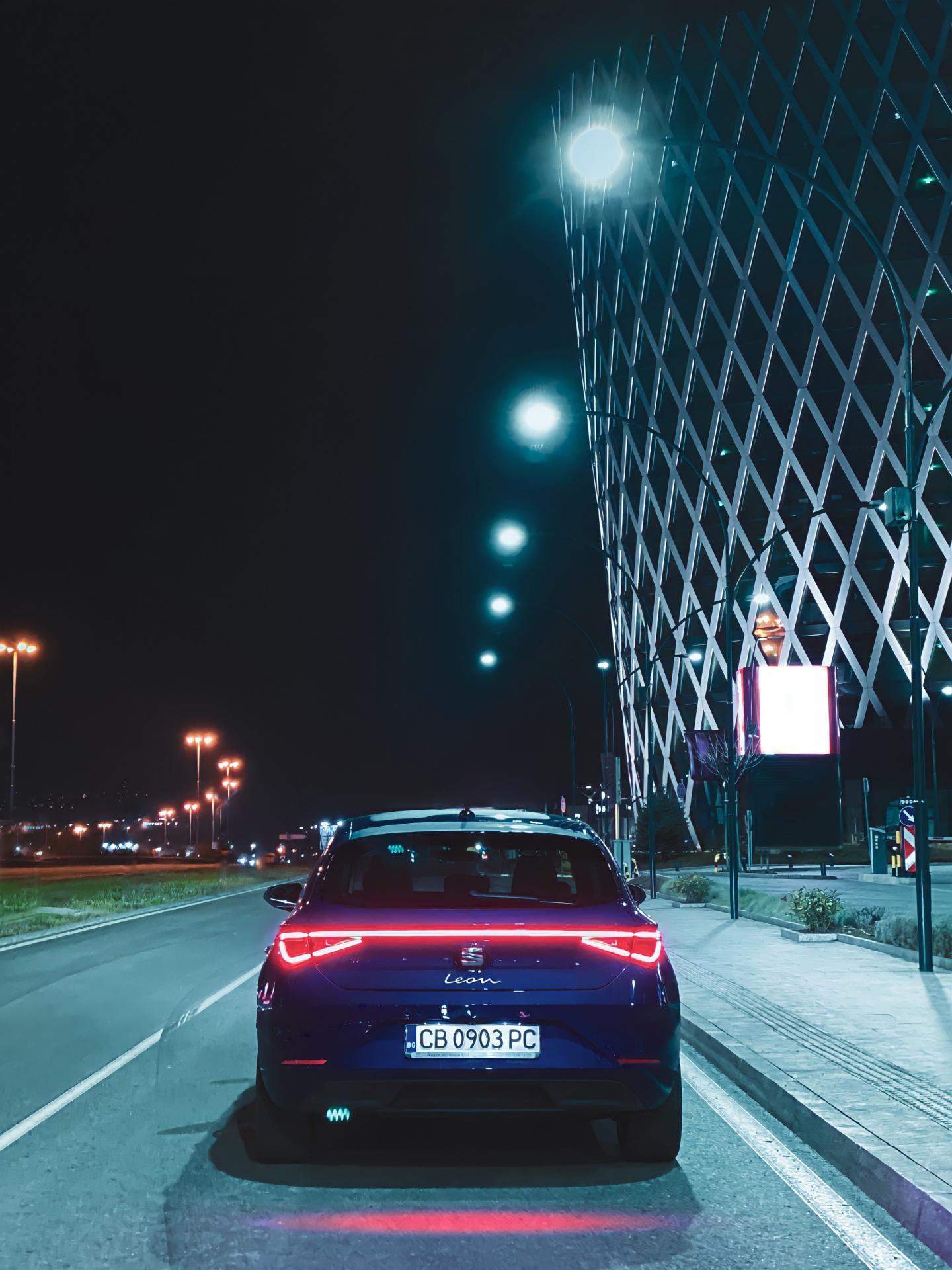 New Seat Leon at night