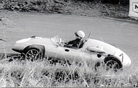 1961: Willy Koenig at the Gaisberg race with the Cooper