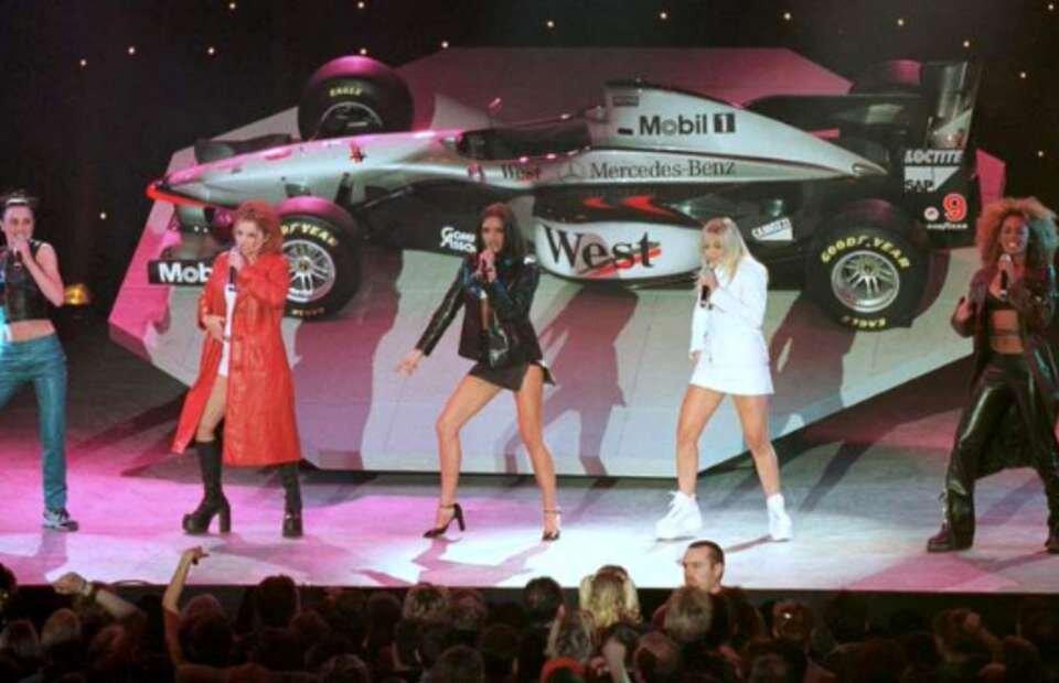 Spice Girls at McLaren ca reveal 1997