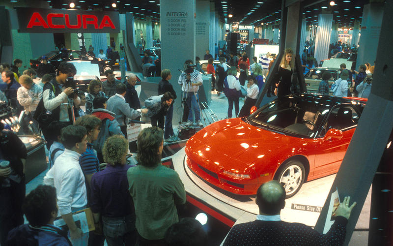 Honda NSX at the Chicago Auto Show 1989