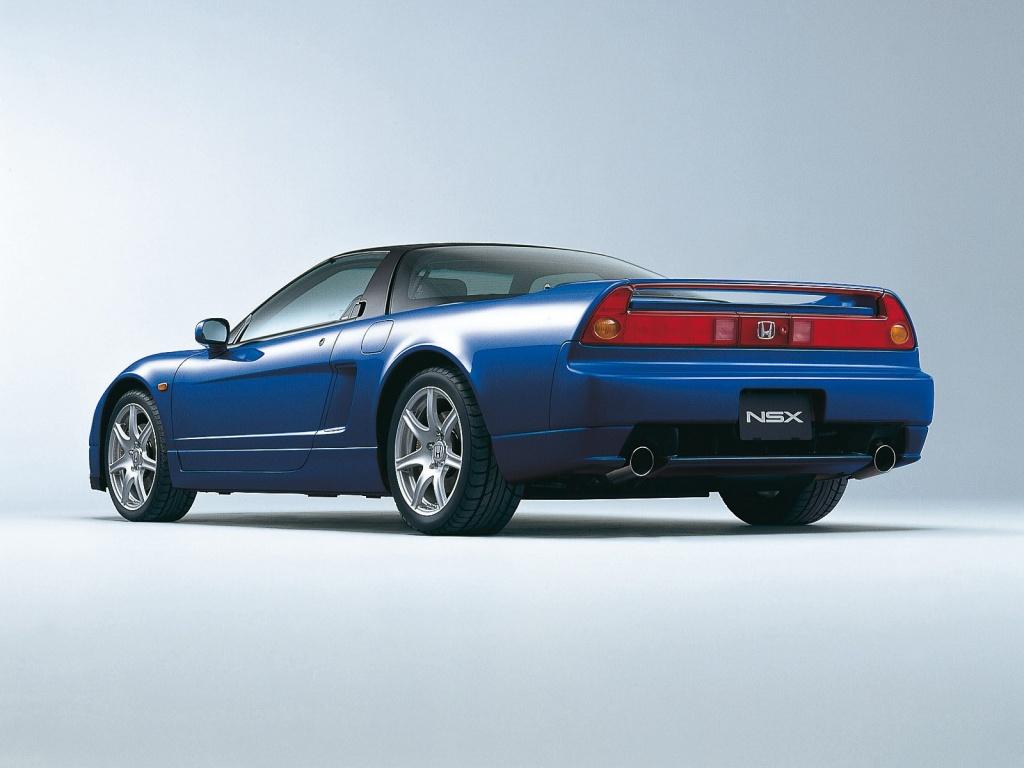 Blue Honda NSX facelift