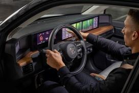 Honda e Interior display