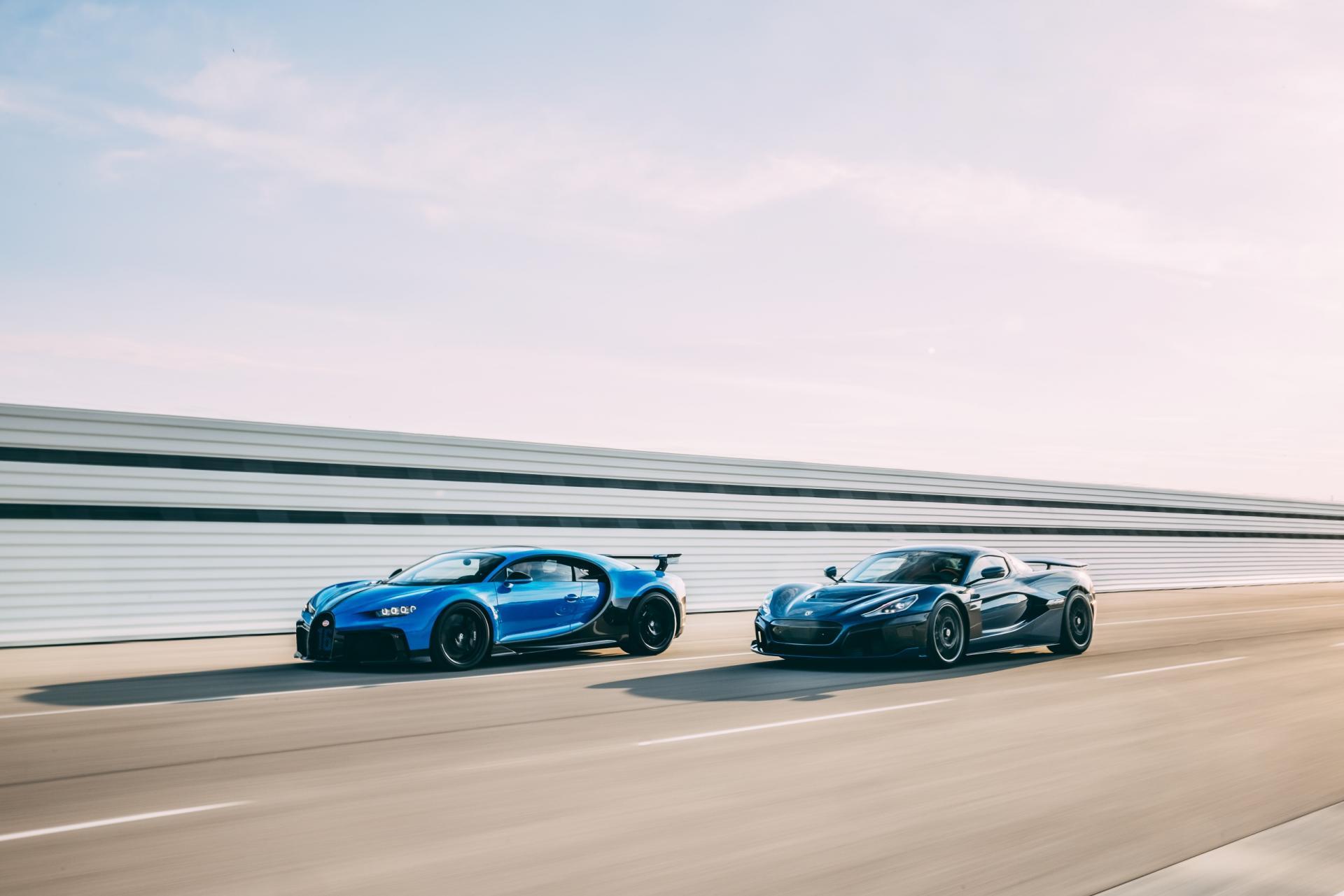 Bugatti Rimac rolling shot