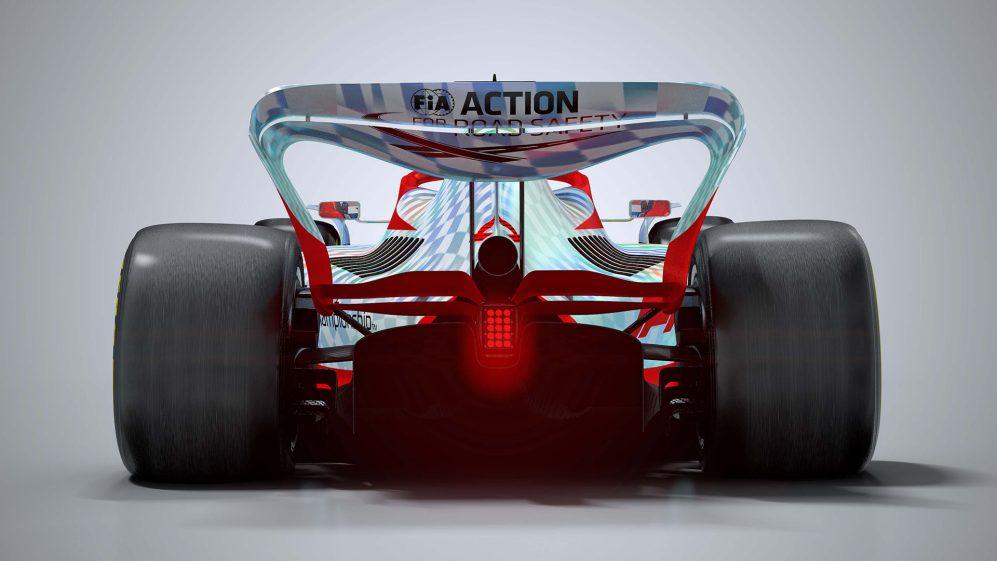 F1 2022 car rear wing
